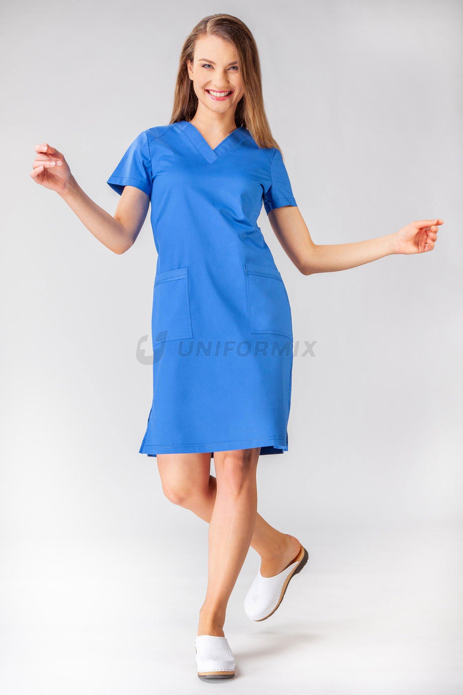 medizinisches kleid, flexzone fz2052, dunkelblau.