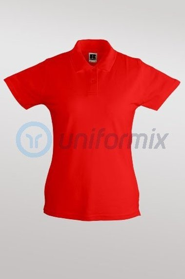 Damen Polo-Shirt, Rot. R50200