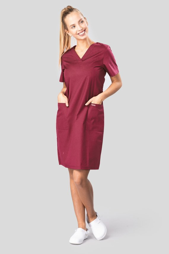Medzinisches Kleid Uniformix Club Med, bordeau. CM15